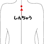 身柱(しんちゅう) 胸を大きくするツボ